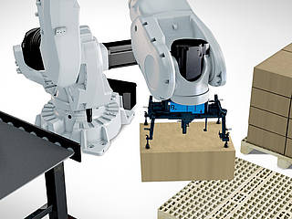 Robotic palletizing and depalletizing